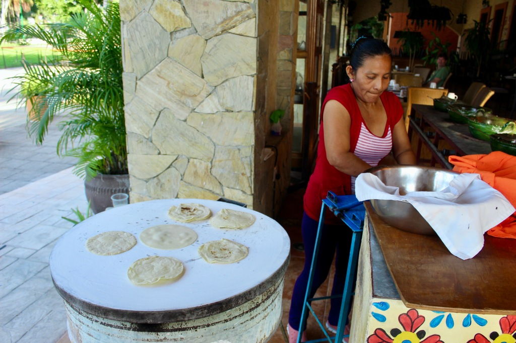 2019 - Huatulco, Mexico - La Crucecita - Breakfast at Sabor a Mi - Fresh tortilla bread made on site!