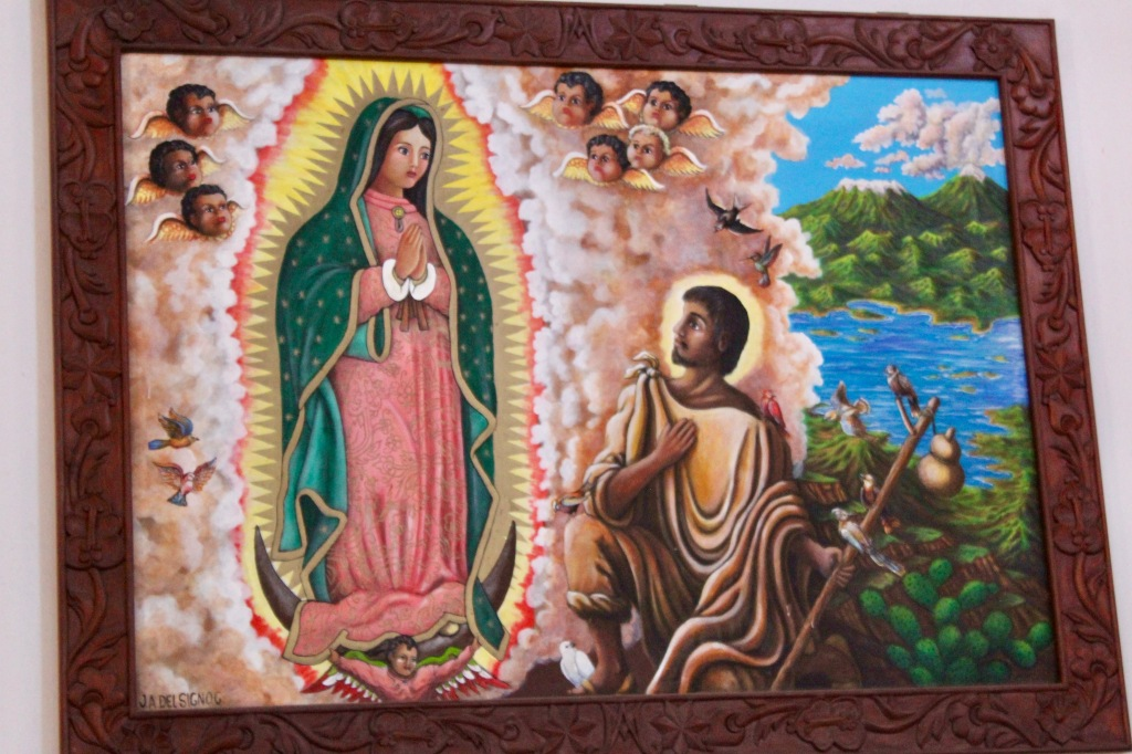 2019 - New Year's Eve - Huatulco, Mexico - La Crucecita - Parish of Our Lady of Guadalupe - Artwork within
