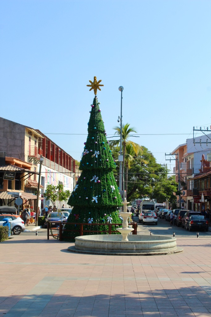 2019 - New Year's Eve Day - Downtown La Crucecita - Christmas tree