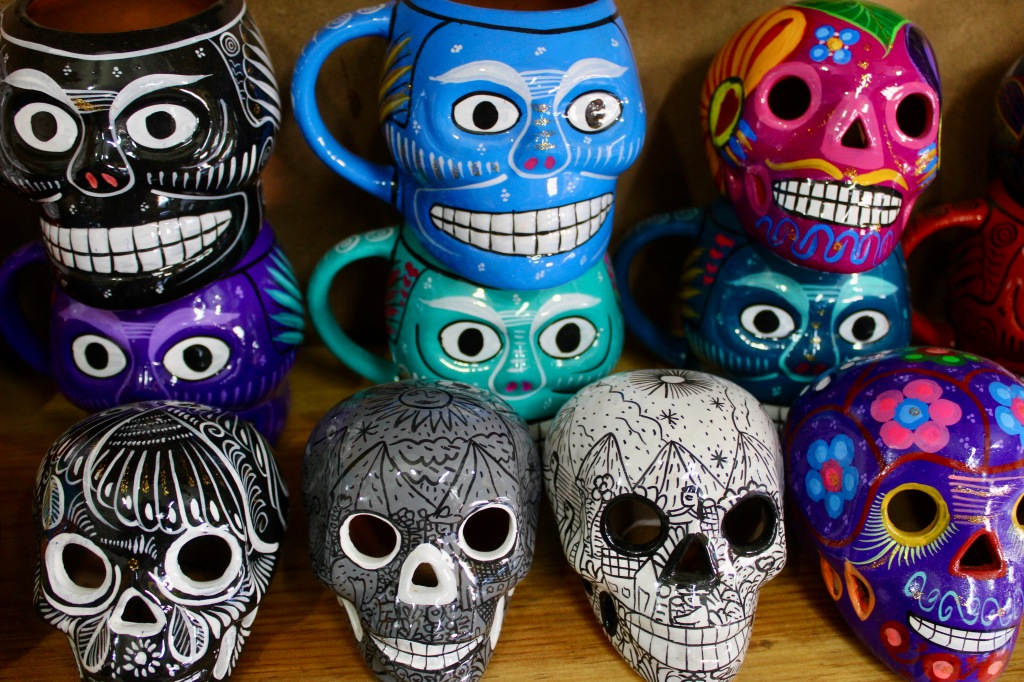 2019 - Huatulco, Mexico - New Year's Eve Day - Downtown La Crucecita - Day of the Dead Souvenirs