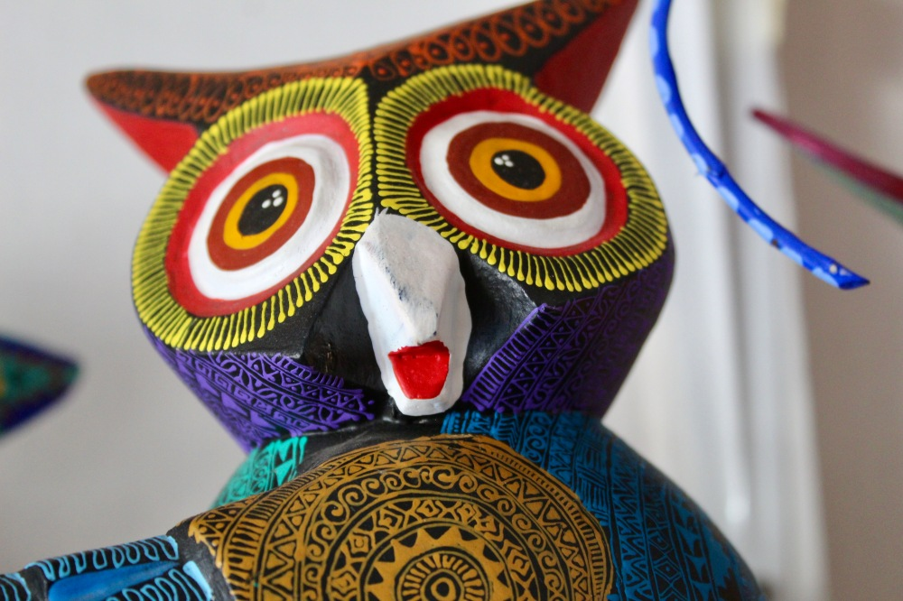 2019 - Huatulco, Mexico - New Year's Eve Day - Downtown La Crucecita - Oaxacan Wood Carvings - Owl