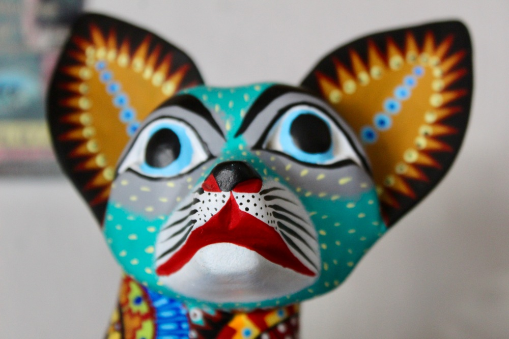 2019 - Huatulco, Mexico - New Year's Eve Day - Downtown La Crucecita - Oaxacan Wood Carvings - Cat