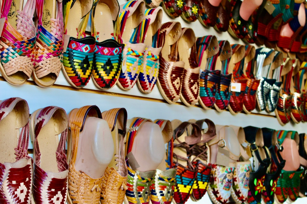 2019 - Huatulco, Mexico - New Year's Eve Day - Downtown La Crucecita - Souvenirs - Leather shoes