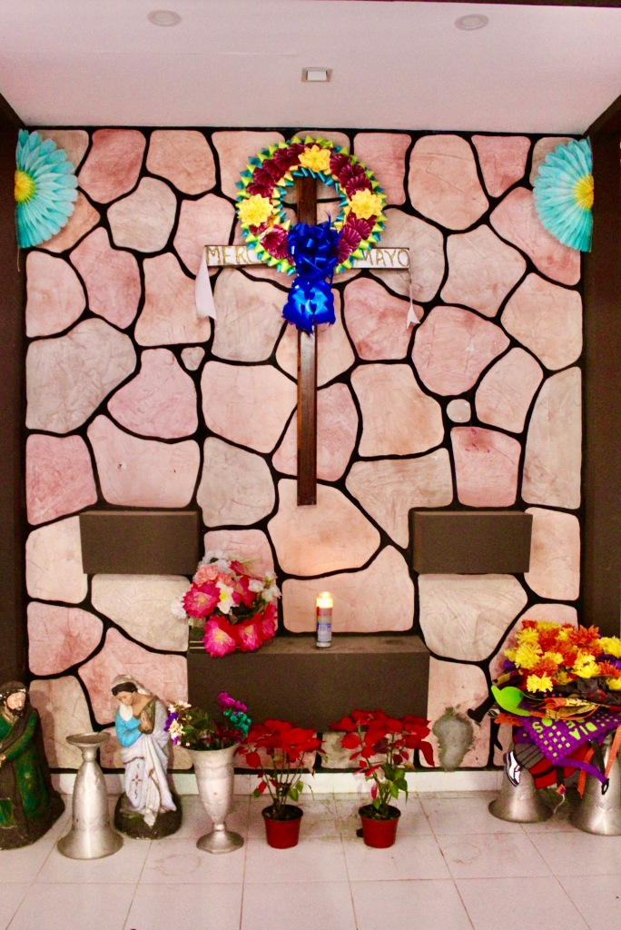 2019 - Huatulco, Mexico - New Year's Eve Day - Downtown La Crucecita - Small chapel inside the indoor market