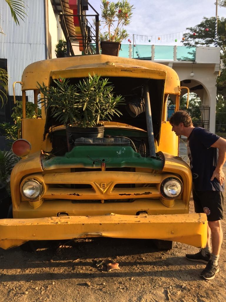2020 - January 2nd - Huatulco, Mexico - La Crucecita - Morning run with Stephanie - Old bus turned Plantation - La Papaya
