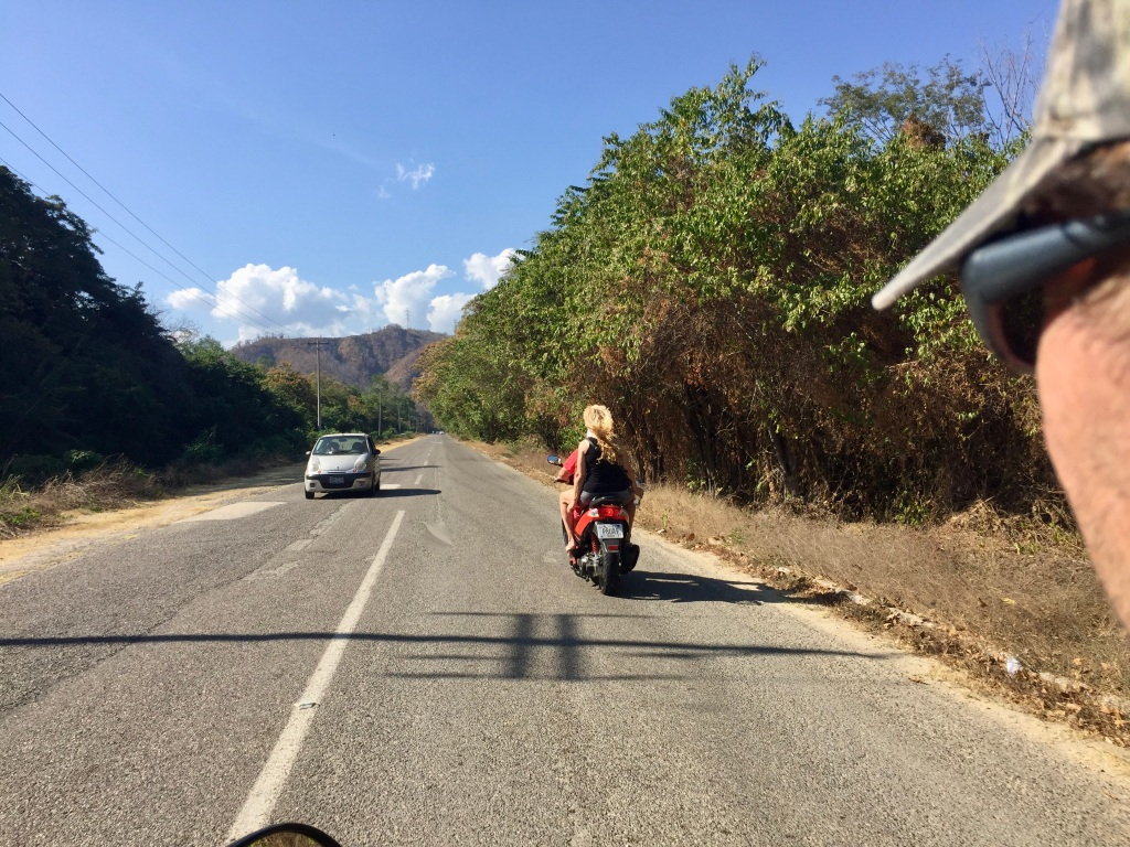 January 2nd, 2020 - Huatulco, Mexico - Scooter ride from La Bocana Beach to Copalota River - Following P & J - our Canadian friends Patricia and Joel!