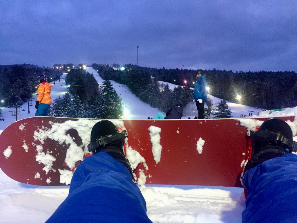 2020 - Martock Ski Hill - Windsor Forks, Nova Scotia - The night I practiced on my own - trying to get up!!