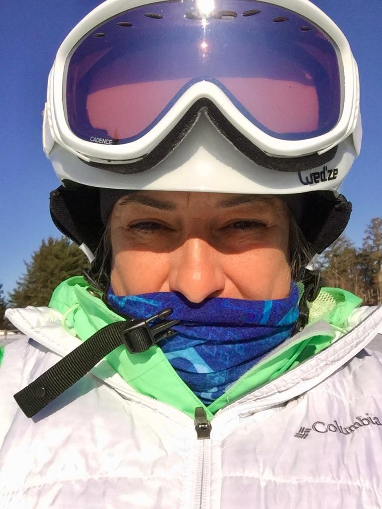 2020 - Martock Ski Hill - Windsor Forks, Nova Scotia - Nervous for my second lesson!