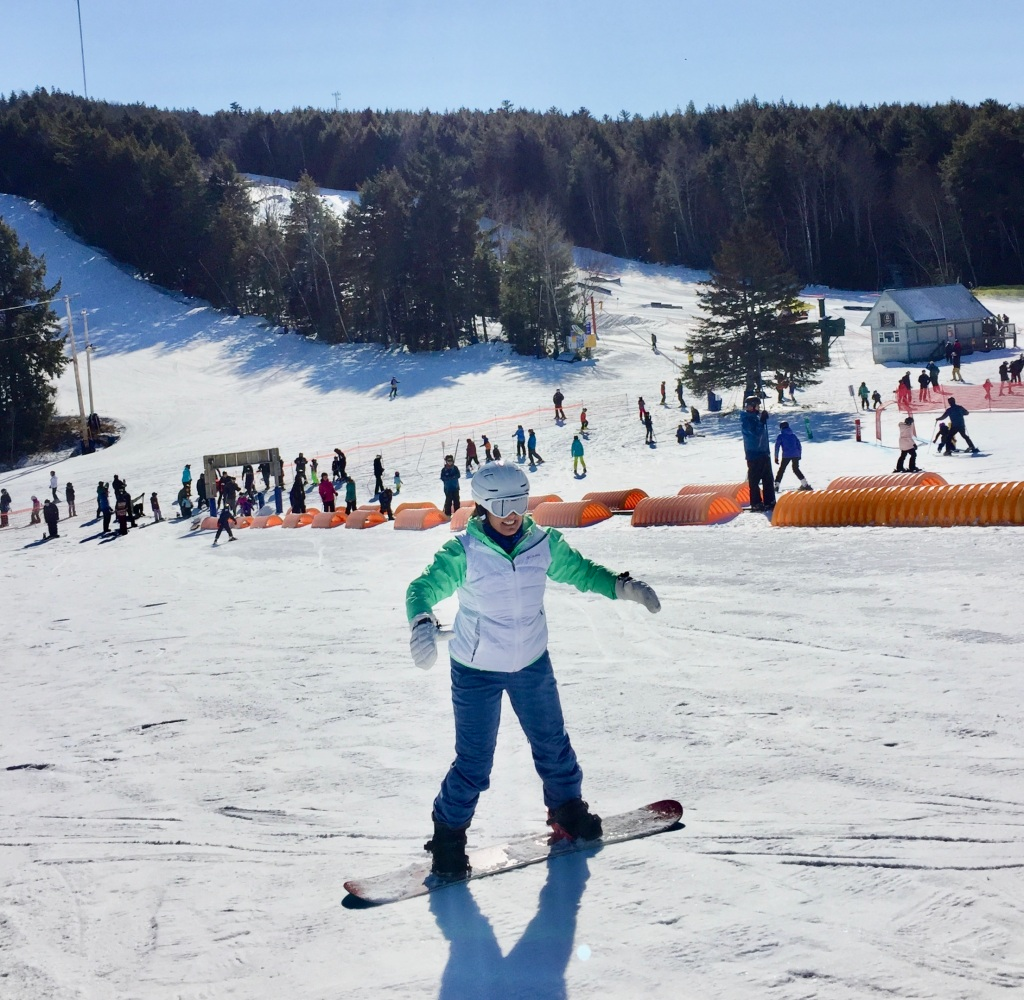 2020 - Martock Ski Hill - Windsor Forks, Nova Scotia - Toe edging down the hill!! SO hard!!!!!