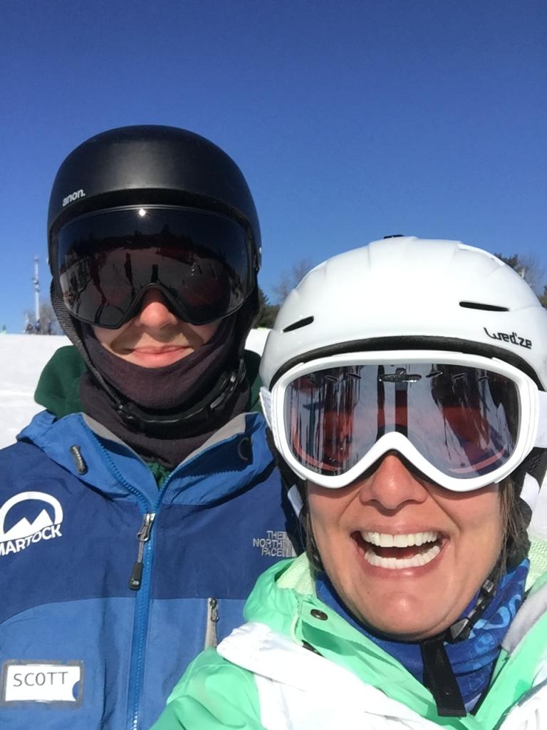 2020 - Martock Ski Hill - Windsor Forks, Nova Scotia - My awesome instructor Scott and I!