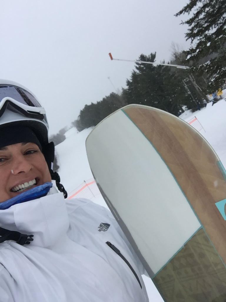 2020 - February - Ski Martock - Pumped with my new board!