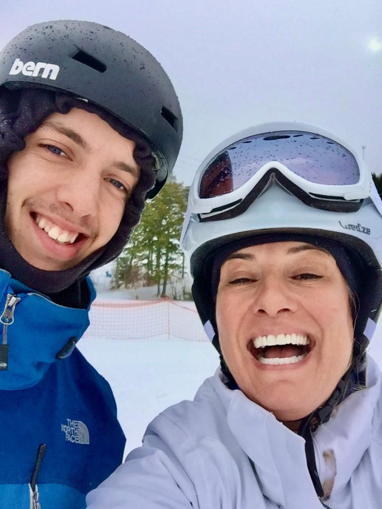 2020 - February - Ski Martock - Issac and I!