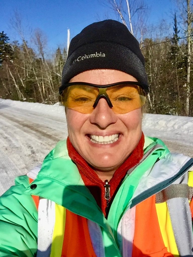February - Monday - Post run- so nice to run with the warmth of the sun!