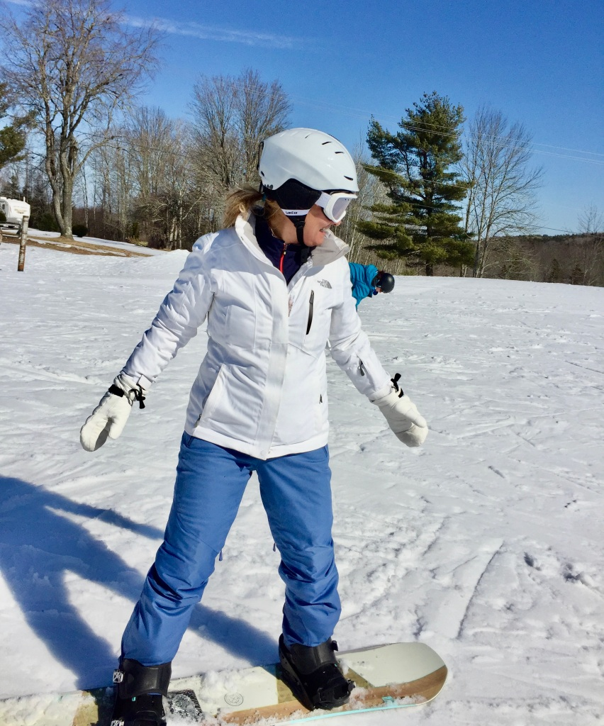 February 2020 - Martock Ski Hill - Getting ready for heel edge pendulum