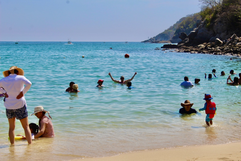 2019 - New Year's Eve Day - Huatulco, Mexico - Santa Cruz Beach - Michael enjoying the water!