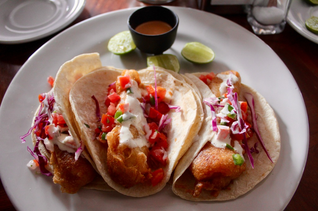 2020 - New Year's Day - Huatulco, Mexico - Xipol Restaurant - Fish Tacos - Delicious!!!!!