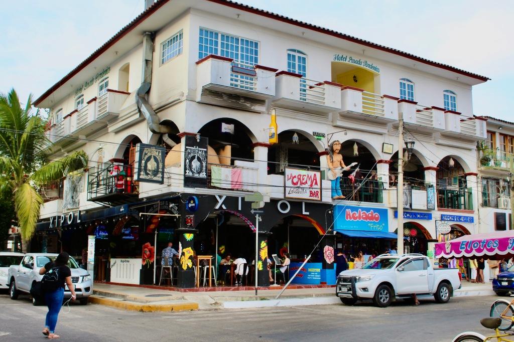 2020 - New Year's Day - Huatulco, Mexico - Xipol Restaurant below La Crema Bar