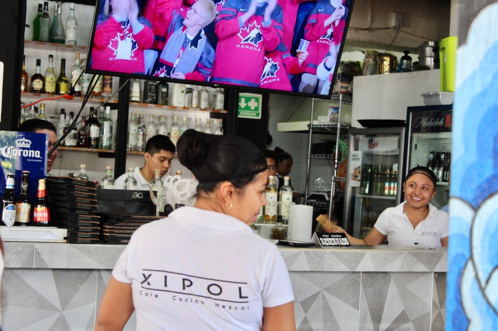 2020 - January 2nd - Huatulco, Mexico - La Crucecita - Xitol Restaurant - Canada scores!