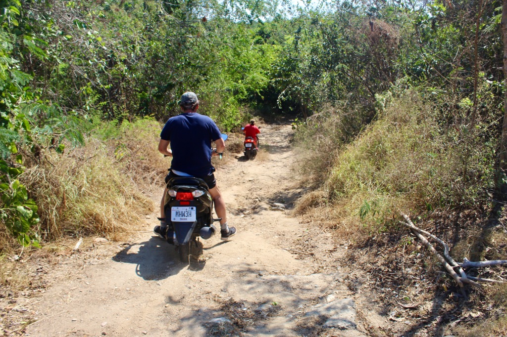 2020 - January 2nd - Huatulco, Mexico - Scooter ride to Conejos Beach - Nondescript and unmarked path off the main road leading to Conejos Beach