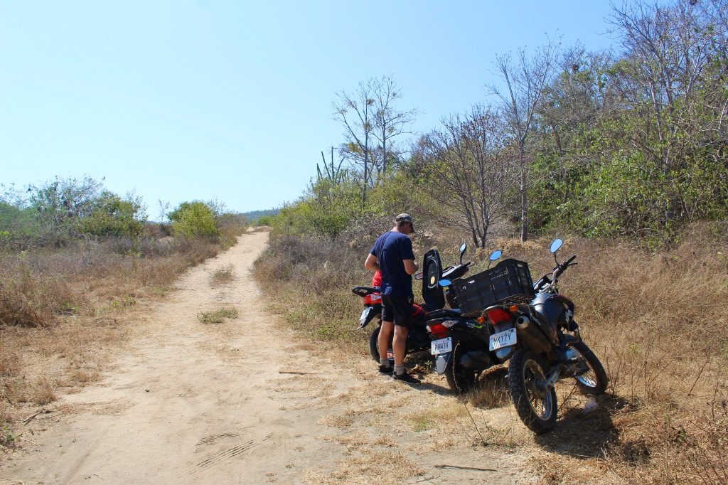 "2020 - January 2nd - Huatulco, Mexico - Scooter ride to Conejos Beach - The ""parking lot"""