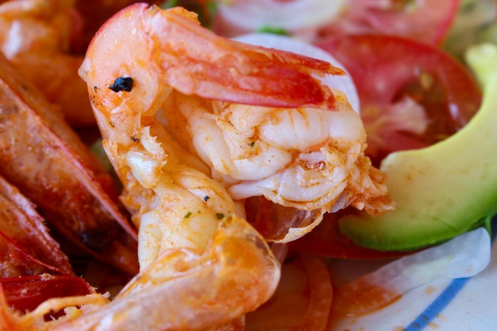2020 - January 2nd - Huatulco, Mexico - La Bocana Beach - Los Güeros Restaurant - Shrimp - Either garlic or butter shrimp - I can't remember!