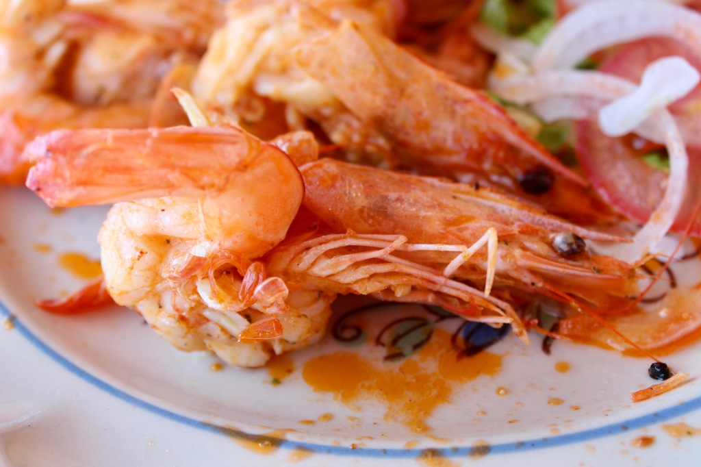 2020 - January 2nd - Huatulco, Mexico - La Bocana Beach - Los Güeros Restaurant - Shrimp - Either garlic or butter - I can't remember!!