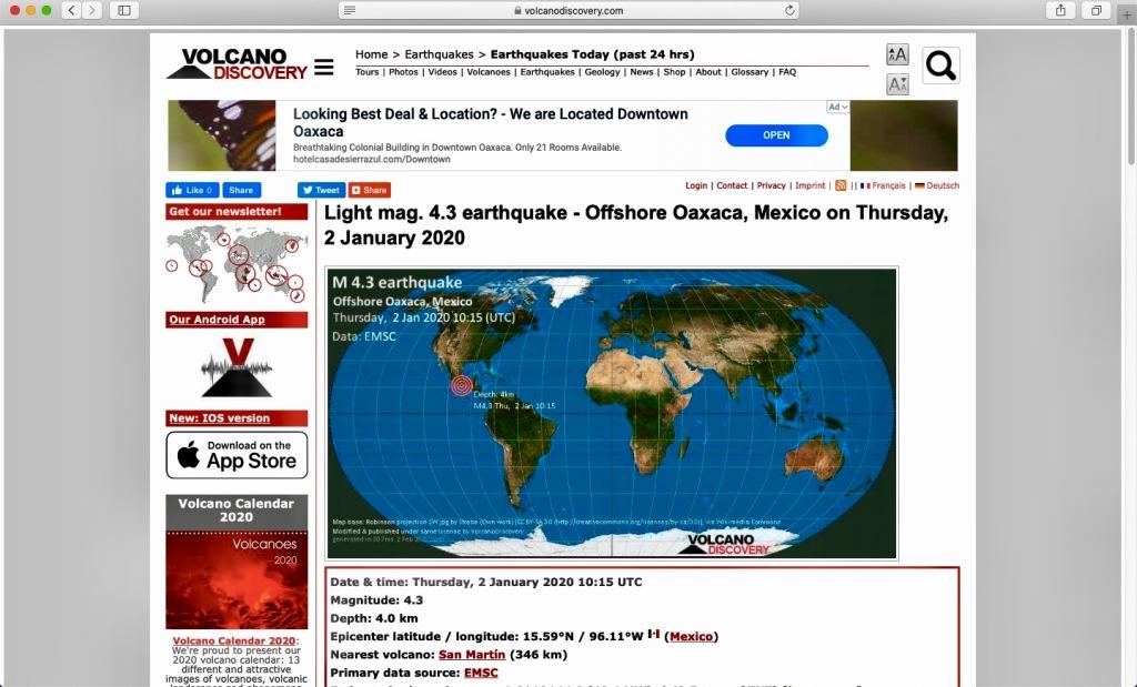 2020 - Huatulco, Mexico - La Crucecita - 4:00am earthquake