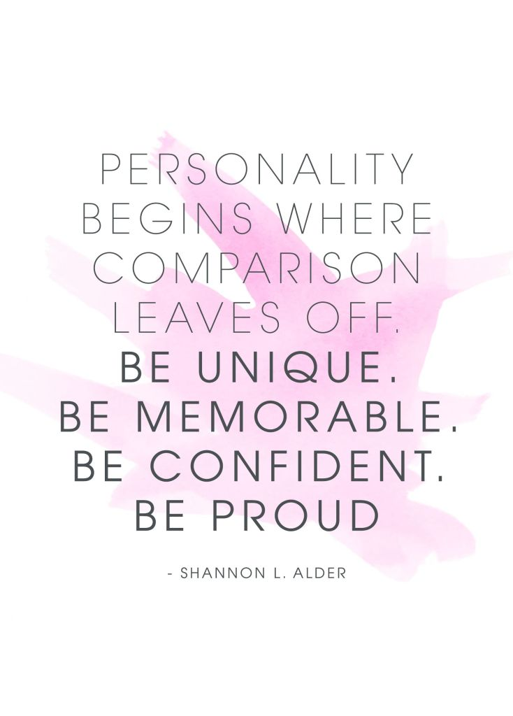 Comparison Quotes - Shannon L. Alder - Personality Begins Where Comparison Leaves Off