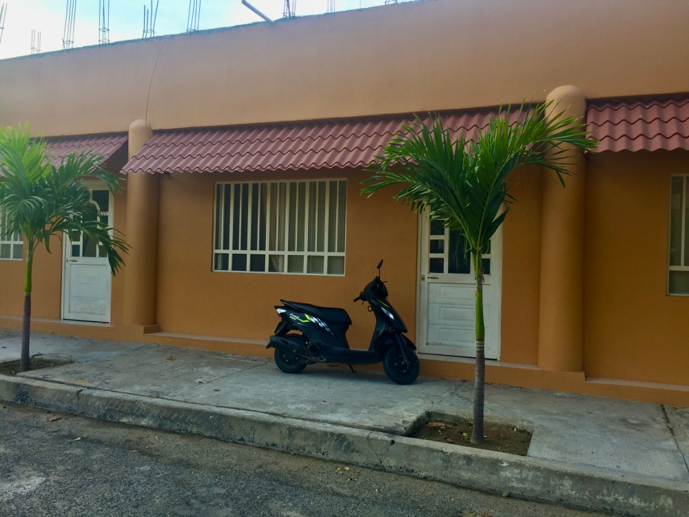 January 3rd, 2020 - Huatulco, Mexico - La Crucecita - Morning run - Rented scooter parked in front of our Airbnb apartment