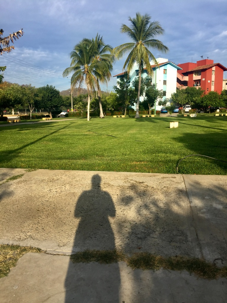 January 3rd, 2020 - Huatulco, Mexico - La Crucecita - Me and my shadow at the completion of my run!