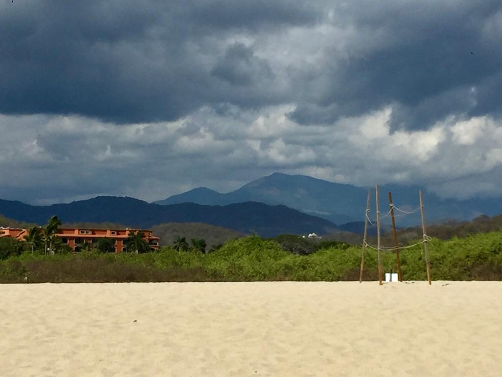January 3rd, 2020 - Huatulco, Mexico - La Crucecita - Chahue Beach - Dark, ominous clouds...