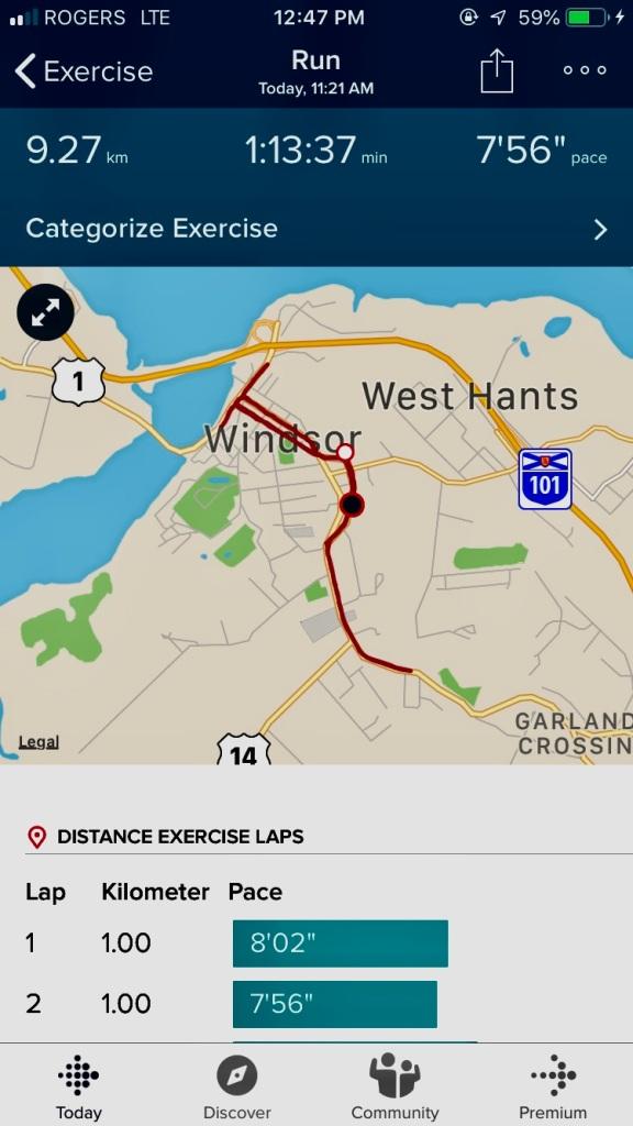 Sunday - Long Run Day!! 9km achieved!! Woohoo!!