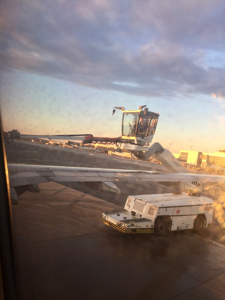 March 14th, 2020 - Toronto International Airport - Deicing before takeoff to Vancouver International Airport