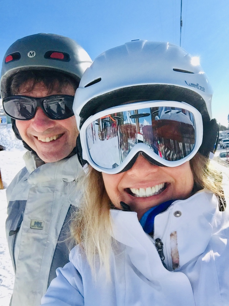 March 15th - Mount Washington Alpine Resort, Vancouver Island - Happy Bunny Hill Snowboarder Stephanie with Happy Experienced Snowboarder Michael!