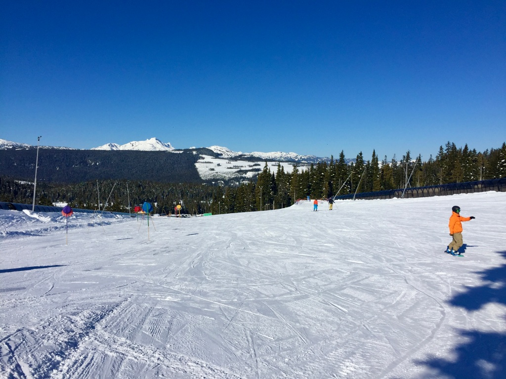 March 15th - Mount Washington Alpine Resort, Vancouver Island - The Bunny Hill! Gulp!