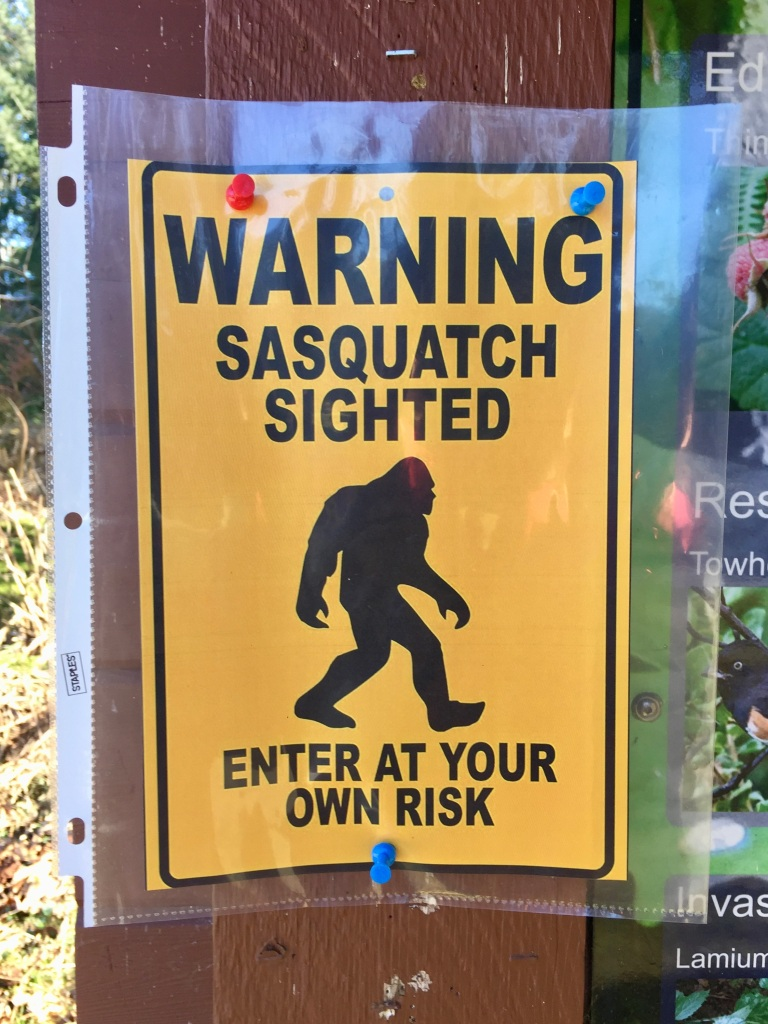 March 16th - Campbell River, Vancouver Island - Willow Creek Walk - Warning Sasquatch Sightings!