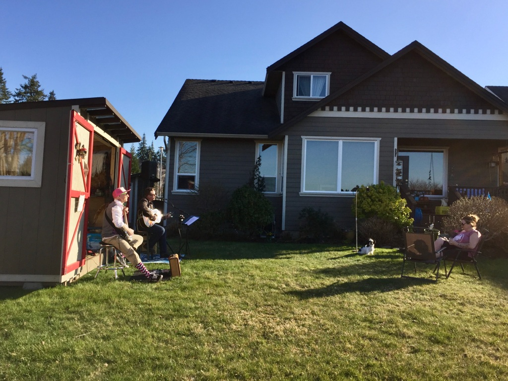 March 20th - Campbell River, Vancouver Island - Neighbor's backyard concert