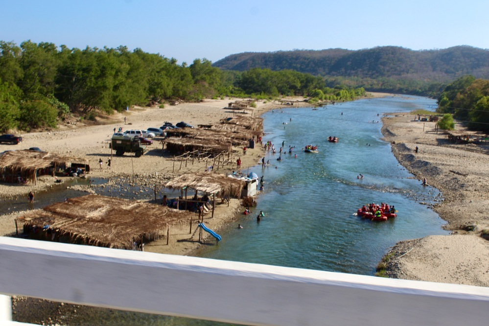 January 2nd, 2020 - Huatulco, Mexico - Copalita River - View of the river as we drove towards the town of Copalita