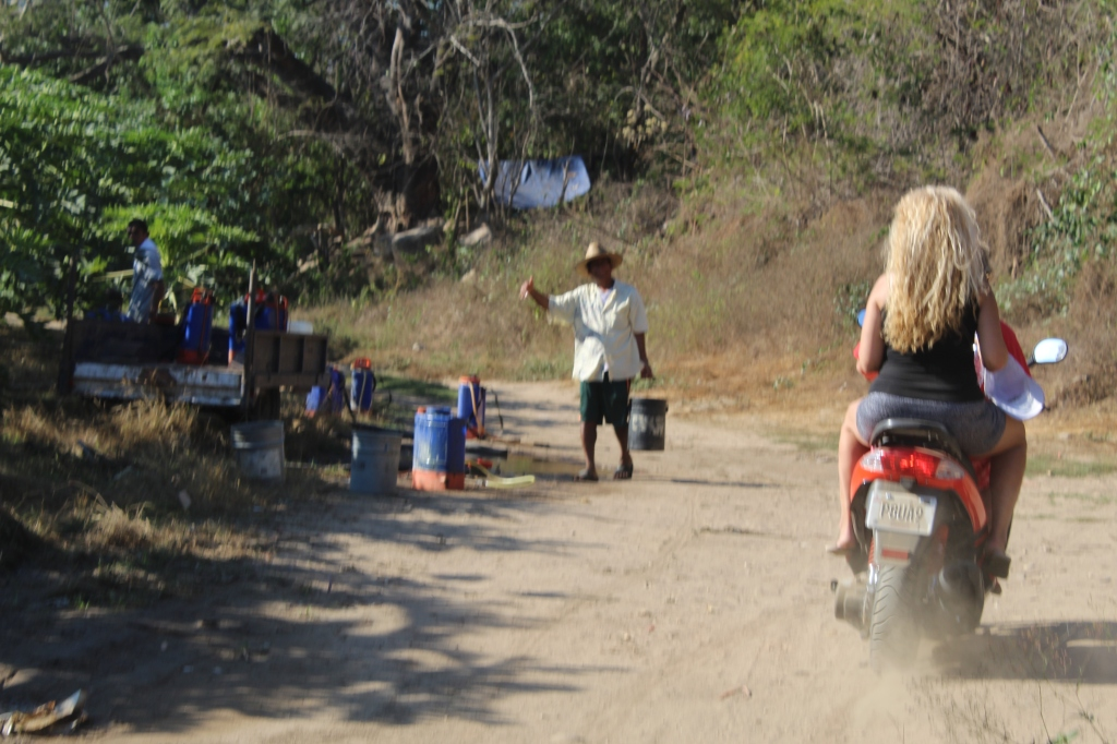 January 2nd, 2020 - Huatulco, Mexico - Looking for the town of Copalita - Found a papaya farm instead! Friendly workers!