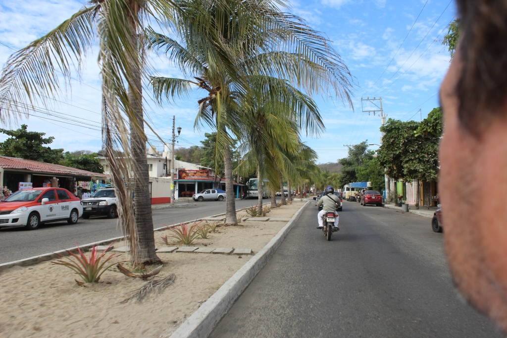 January 3rd, 2020 - Huatulco, Mexico - La Crucecita - Driving the scooter to find a gas station before returning it