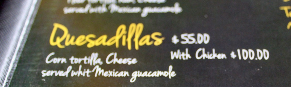 January 3rd, 2020 - Huatulco, Mexico - La Crucecita - Breakfast at Xipol - Chicken quesadillas