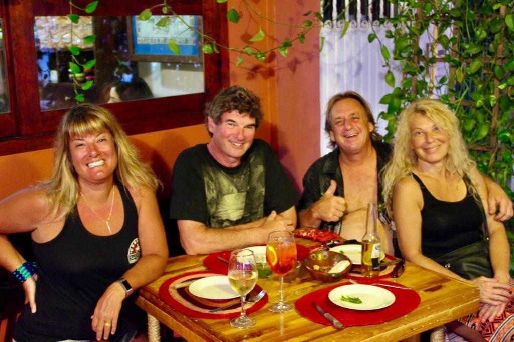 January 3rd, 2020 - Huatulco, Mexico - La Crucecita - Dinner at Giordanas Italian restaurant - Me, Michael, Joel and Patricia
