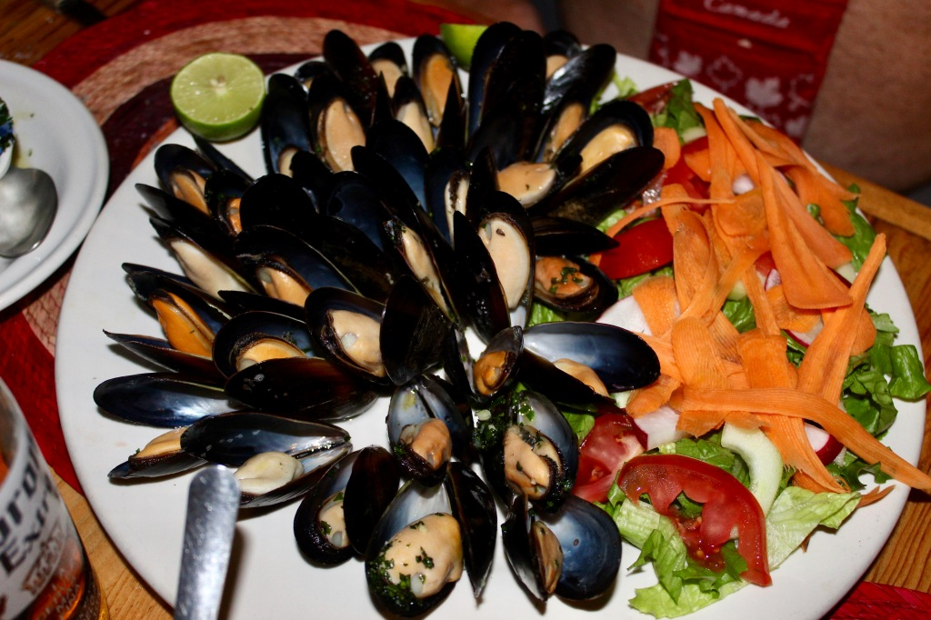 January 3rd, 2020 - Huatulco, Mexico - La Crucecita - Dinner at Giordanas Italian restaurant - Joel's mussels that were the star of the show!