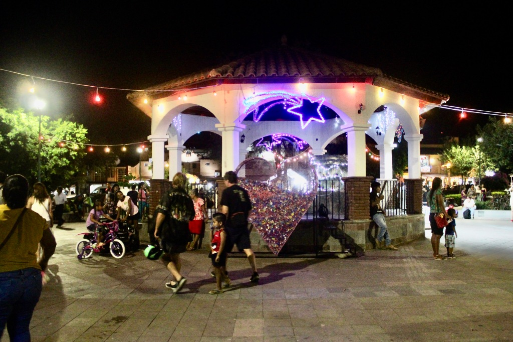 January 3rd, 2020 - Huatulco, Mexico - La Crucecita - Walking through downtown centre square