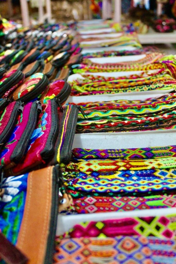 January 3rd, 2020 - Huatulco, Mexico - La Crucecita - Sights of downtown La Crucecita - Bracelets and wallets