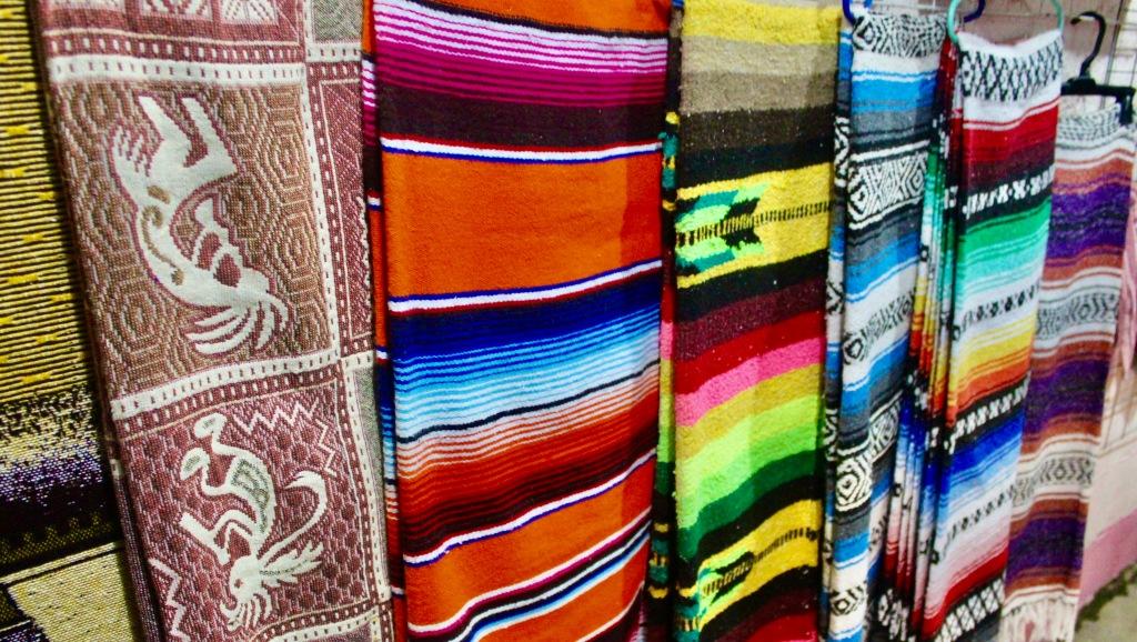 January 3rd, 2020 - Huatulco, Mexico - La Crucecita - Sights of downtown La Crucecita - Blankets