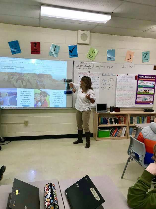 January - 2020 - Talking about my blog to Grade 7 English Classes