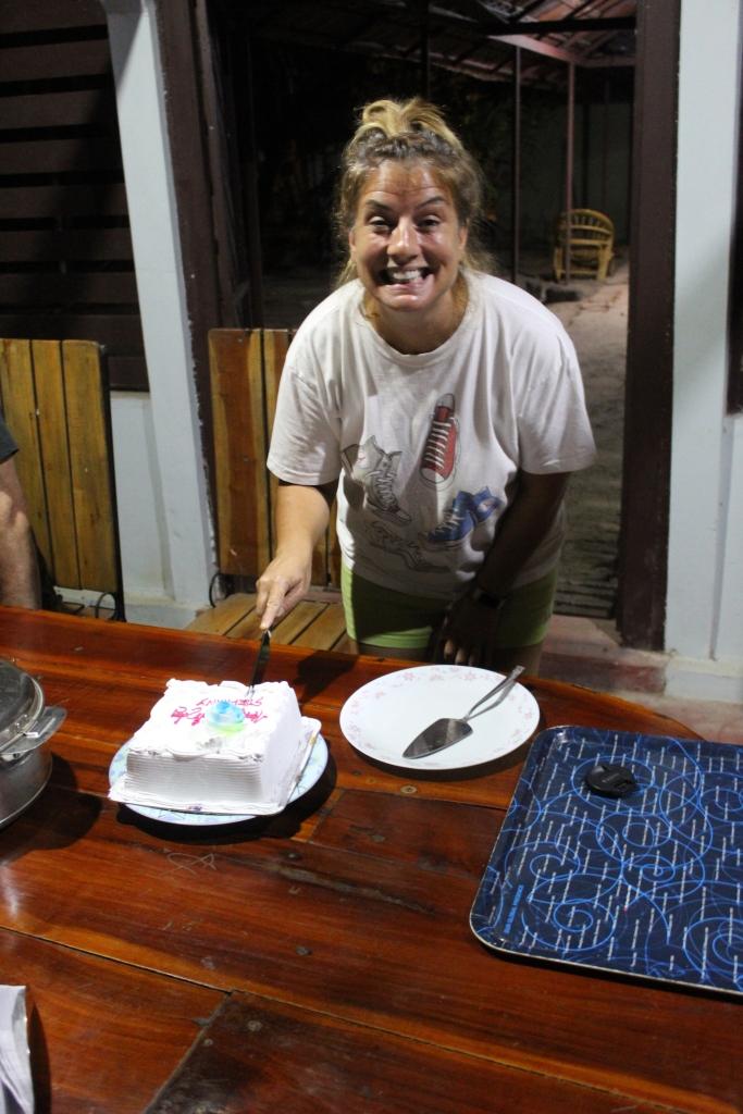 Mararikulam North, Kerala, India - April 25th, 2019 - Birthday Girl cuts her cake