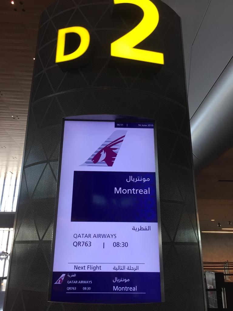 June, 2019 - Qatar - Hamad International Airport - Goodbye Qatar - Next stop - Montreal