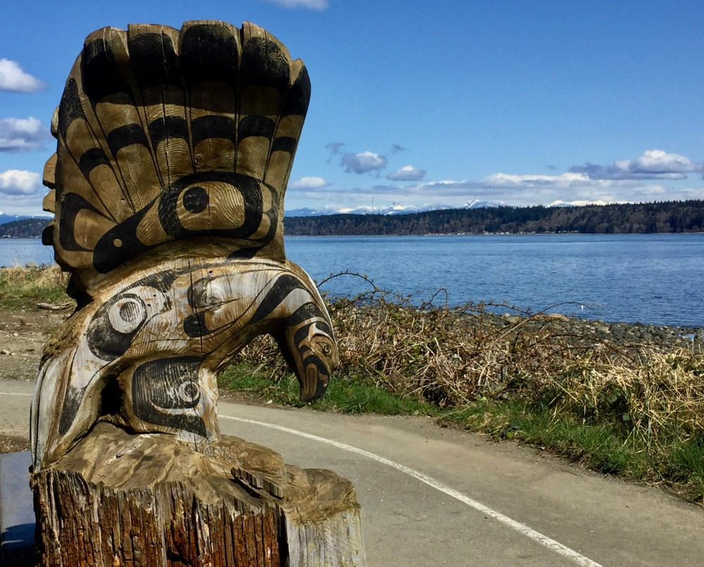 The Five Reiki Principles - Eagle Carving - SeaWalk - Campbell River, Vancouver Island, British Columbia